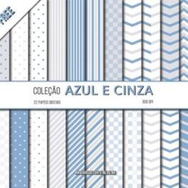 Papel digital azul e cinza