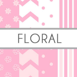 Papel digital Floral rosa