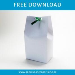 Molde de caixa milk limpo