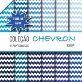 Papel digital Chevron Azul