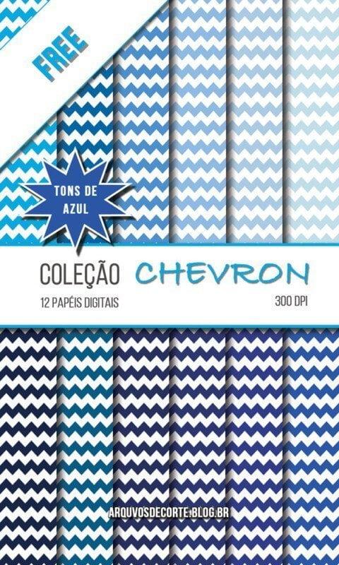 Papel digital Chevron Azul