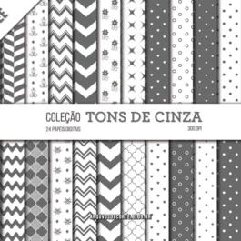 Papel digital Tons de cinza