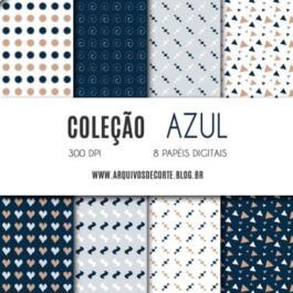 Kit de papel digital Azul