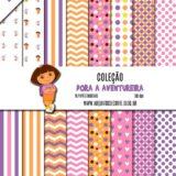 Kit de papel digital Dora a Aventureira
