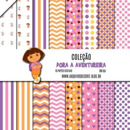 Kit de papel digital Dora a Aventureira