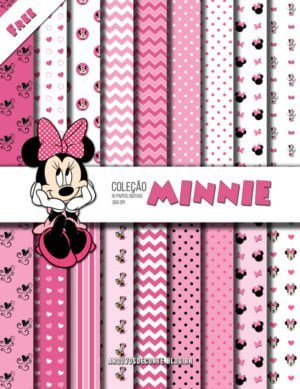 kit de papel digital minnie rosa free