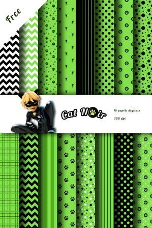papel digital cat noir