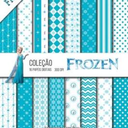 Kit de papel digital Frozen
