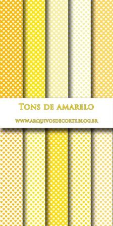 papel digital amarelo