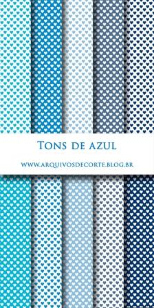 papel digital azul