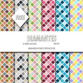 Papel digital Diamantes