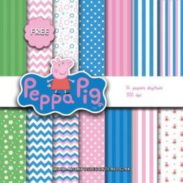 Papel digital Peppa Pig