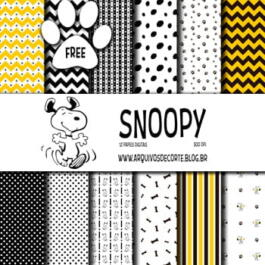 Papel digital Snoopy