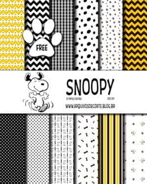 Papel digital Snoopy