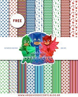 Papel digital PJ Masks - Papeis digitais PJ Masks