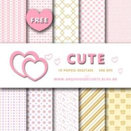 Papel digital Cute