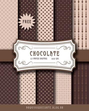 Papel digital Chocolate