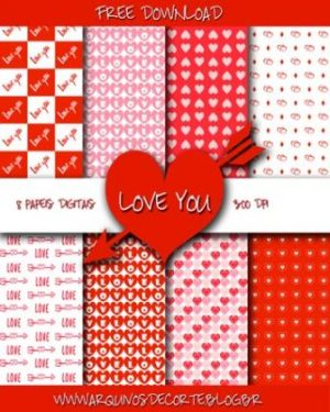 Papel digital love you