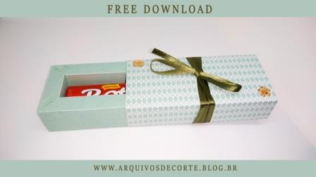 Caixinha para chocolate baton