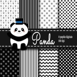 Kit de papel digital Panda
