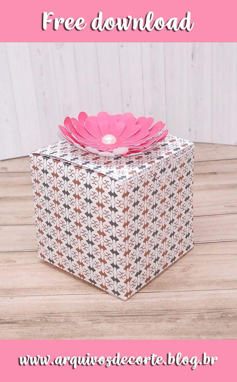 molde caixa cubo