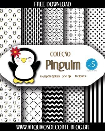 Papel digital Pinguim