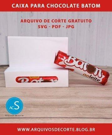 caixa para chocolate baton