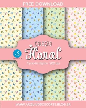 Papel digital Floral