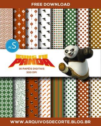 papel digital Kung Fu Panda