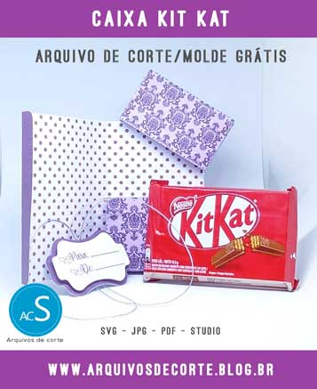 Caixinha Kit Kat personalizada aberta