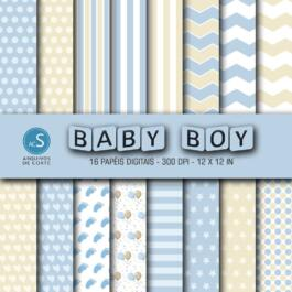 Papel digital Baby Boy