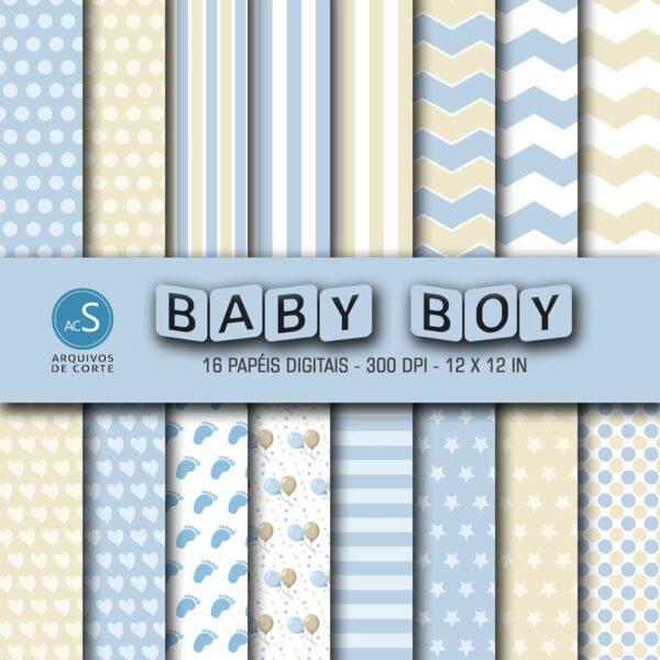 Papel digital Baby Boy