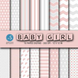 Papel digital Baby Girl