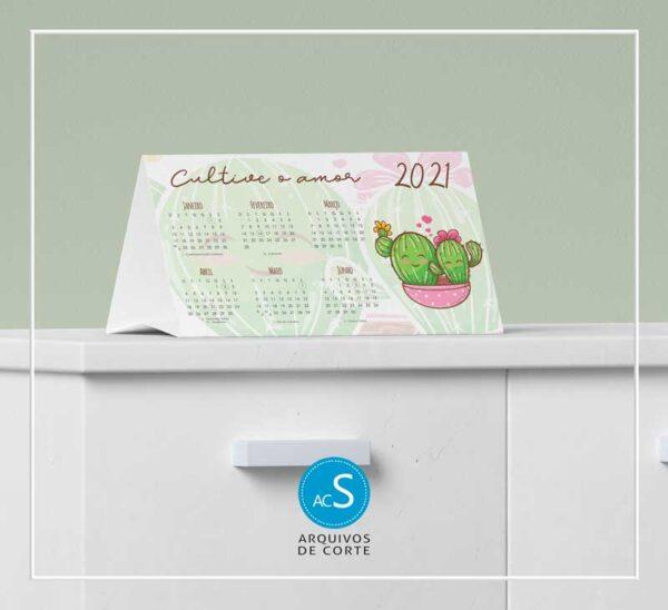 Calendários de mesa personalizados 2021 - Combo 4