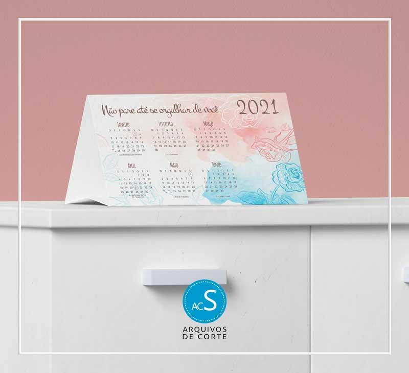Calendários de mesa personalizados 2021 - Combo 8