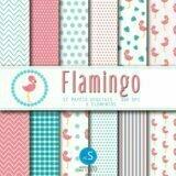 papel digital flamingo