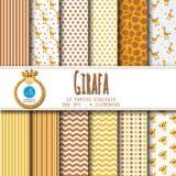 papel digital girafa - kit digital girafinha